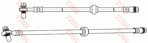 Ilustracja PHD1074 TRW przewód hamulcowy elastyczny