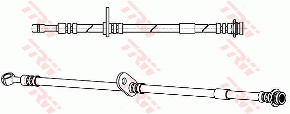 Ilustracja PHD1070 TRW przewód hamulcowy elastyczny