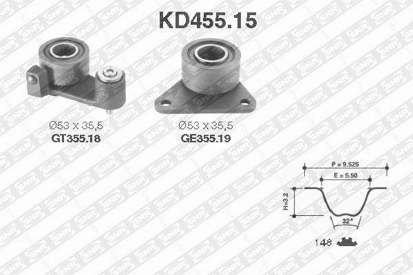 Ilustracja KD455.15 SNR zestaw paska rozrządu