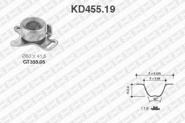 Ilustracja KD455.19 SNR zestaw paska rozrządu