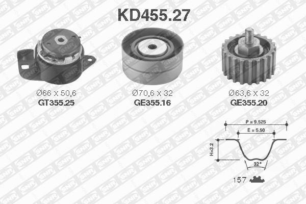 Ilustracja KD455.27 SNR zestaw paska rozrządu