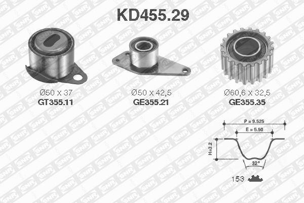 Ilustracja KD455.29 SNR zestaw paska rozrządu