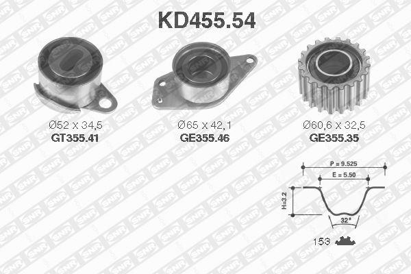 Ilustracja KD455.54 SNR zestaw paska rozrządu