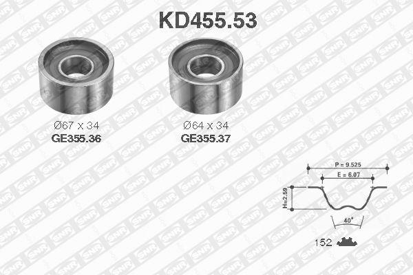 Ilustracja KD455.53 SNR zestaw paska rozrządu