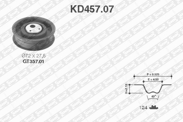 Ilustracja KD457.07 SNR zestaw paska rozrządu
