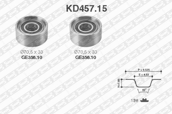 Ilustracja KD457.15 SNR zestaw paska rozrządu