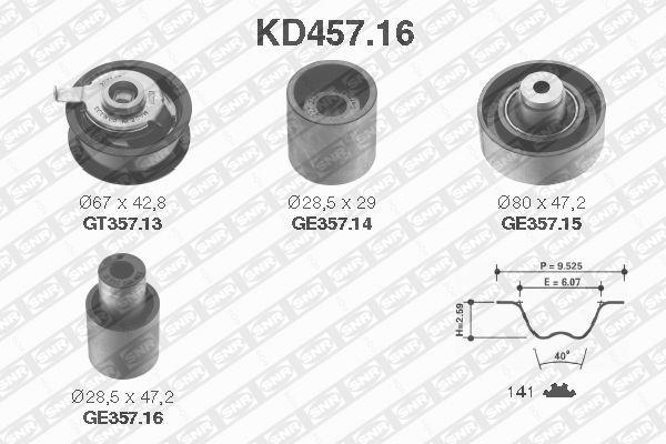 Ilustracja KD457.16 SNR zestaw paska rozrządu