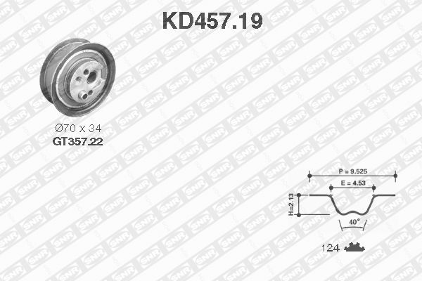 Ilustracja KD457.19 SNR zestaw paska rozrządu