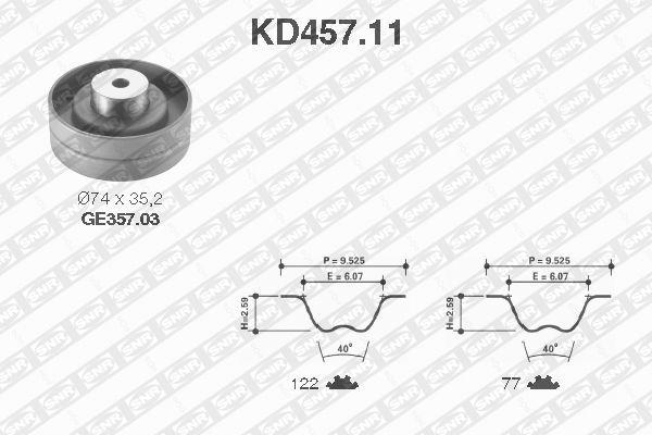 Ilustracja KD457.11 SNR zestaw paska rozrządu
