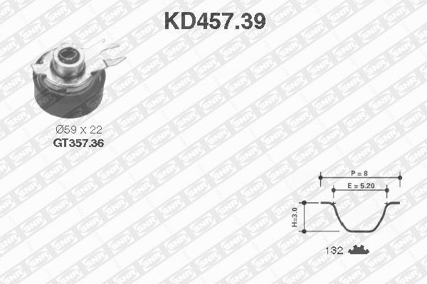 Ilustracja KD457.39 SNR zestaw paska rozrządu