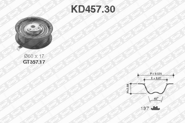 Ilustracja KD457.30 SNR zestaw paska rozrządu