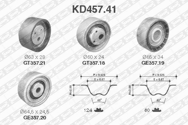 Ilustracja KD457.41 SNR zestaw paska rozrządu