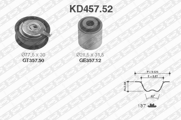 Ilustracja KD457.52 SNR zestaw paska rozrządu