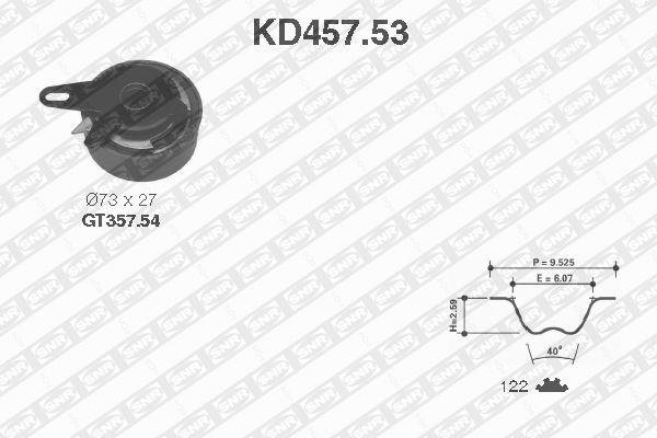 Ilustracja KD457.53 SNR zestaw paska rozrządu