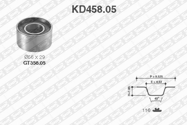 Ilustracja KD458.05 SNR zestaw paska rozrządu