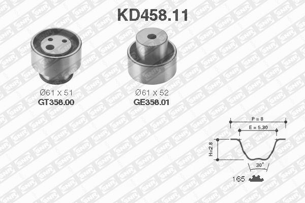 Ilustracja KD458.11 SNR zestaw paska rozrządu