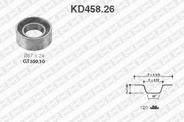 Ilustracja KD458.26 SNR zestaw paska rozrządu