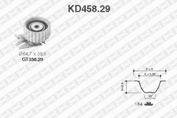 Ilustracja KD458.29 SNR zestaw paska rozrządu