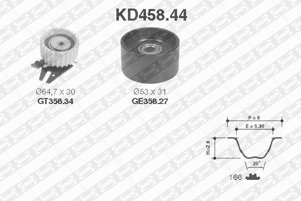 Ilustracja KD458.44 SNR zestaw paska rozrządu