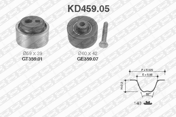 Ilustracja KD459.05 SNR zestaw paska rozrządu