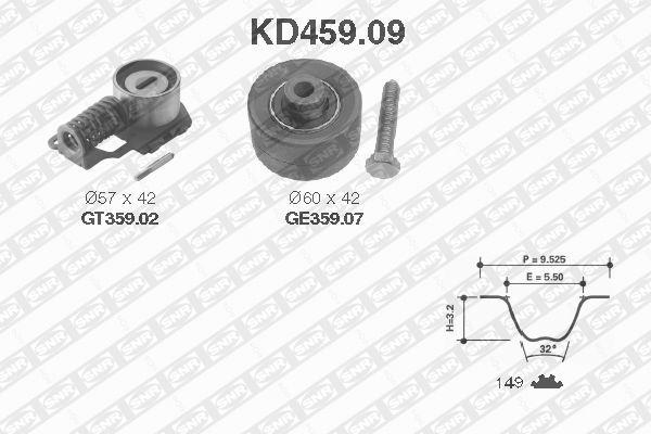 Ilustracja KD459.09 SNR zestaw paska rozrządu