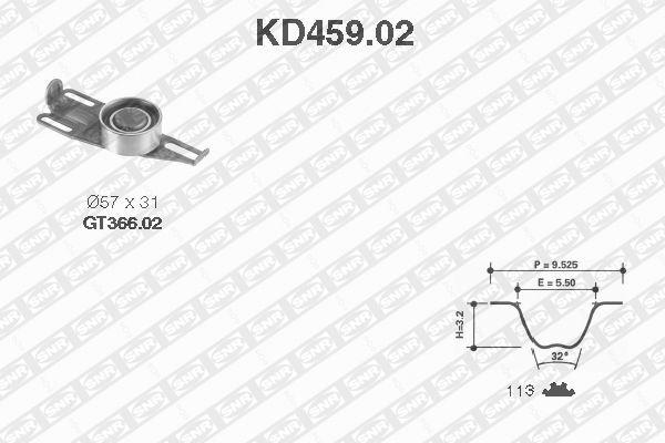 Ilustracja KD459.02 SNR zestaw paska rozrządu