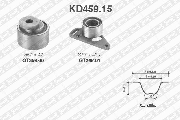 Ilustracja KD459.15 SNR zestaw paska rozrządu