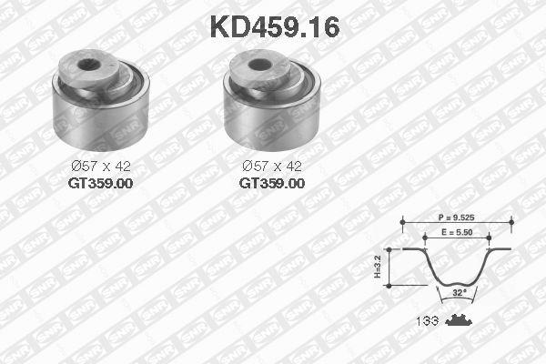 Ilustracja KD459.16 SNR zestaw paska rozrządu