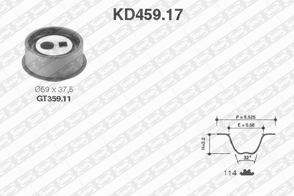 Ilustracja KD459.17 SNR zestaw paska rozrządu