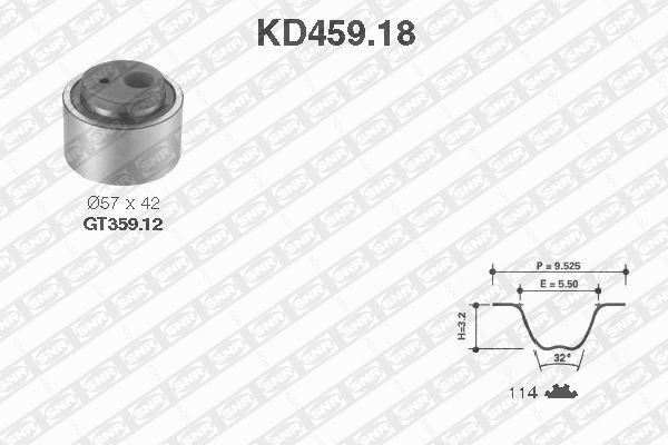 Ilustracja KD459.18 SNR zestaw paska rozrządu