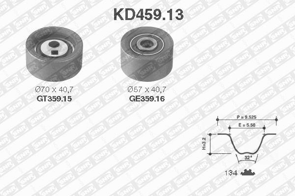 Ilustracja KD459.13 SNR zestaw paska rozrządu