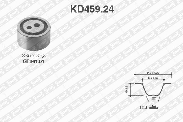Ilustracja KD459.24 SNR zestaw paska rozrządu