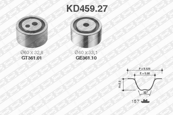 Ilustracja KD459.27 SNR zestaw paska rozrządu