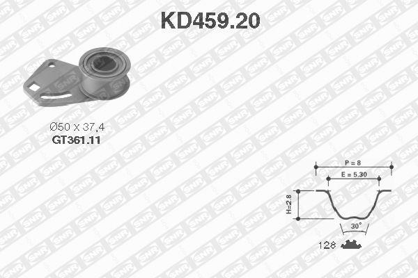 Ilustracja KD459.20 SNR zestaw paska rozrządu