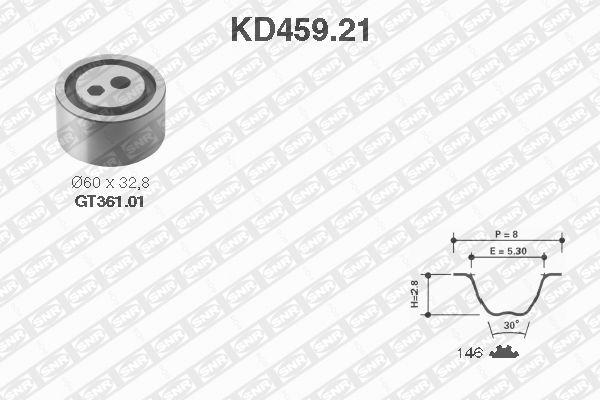 Ilustracja KD459.21 SNR zestaw paska rozrządu