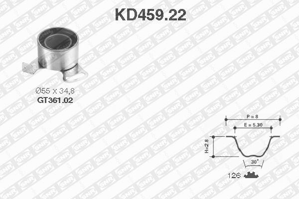 Ilustracja KD459.22 SNR zestaw paska rozrządu