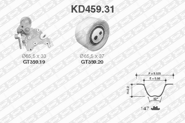 Ilustracja KD459.31 SNR zestaw paska rozrządu