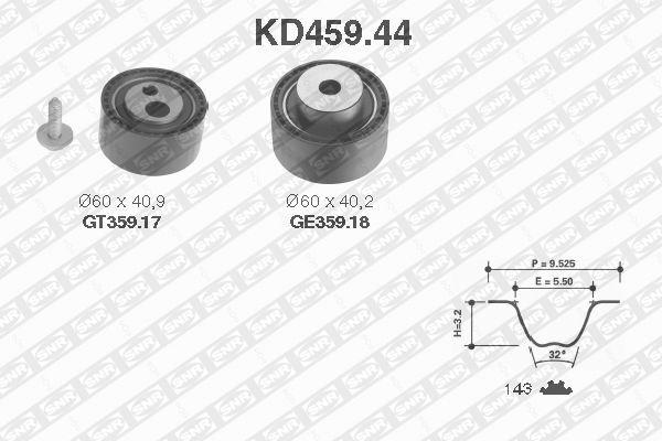 Ilustracja KD459.44 SNR zestaw paska rozrządu