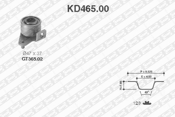 Ilustracja KD465.00 SNR zestaw paska rozrządu