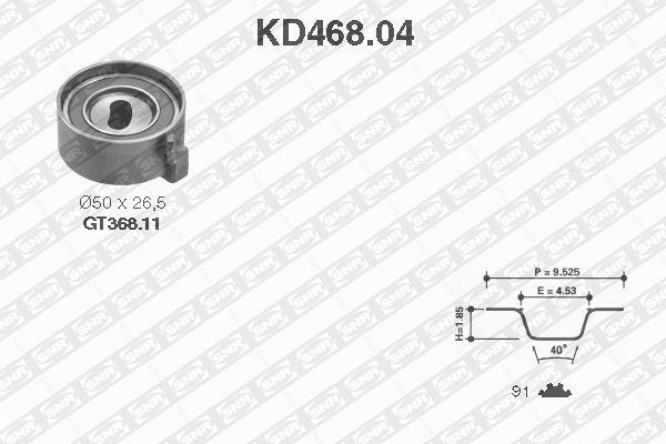 Ilustracja KD468.04 SNR zestaw paska rozrządu