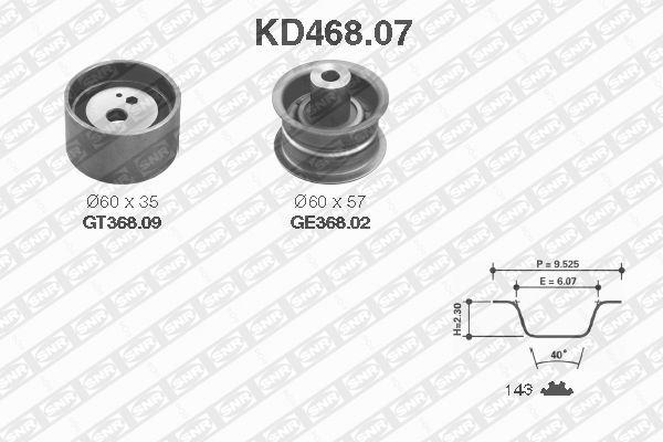 Ilustracja KD468.07 SNR zestaw paska rozrządu