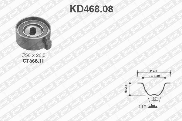 Ilustracja KD468.08 SNR zestaw paska rozrządu