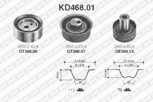 Ilustracja KD468.01 SNR zestaw paska rozrządu