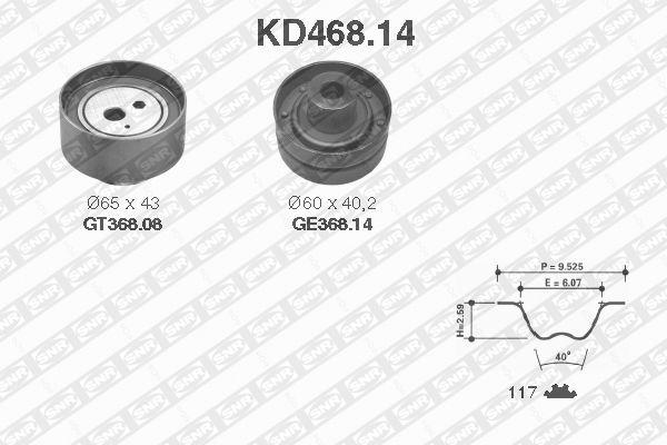 Ilustracja KD468.14 SNR zestaw paska rozrządu