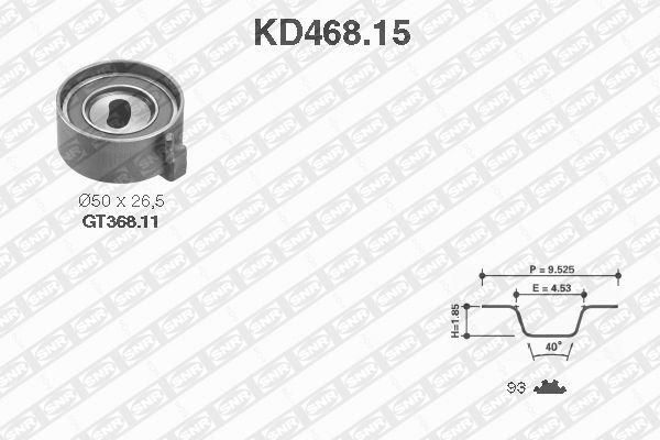 Ilustracja KD468.15 SNR zestaw paska rozrządu