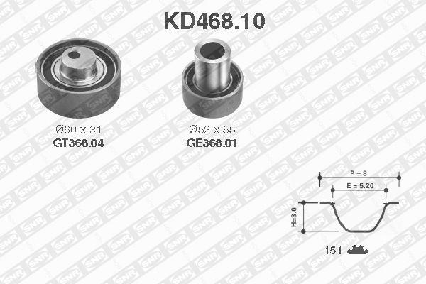 Ilustracja KD468.10 SNR zestaw paska rozrządu