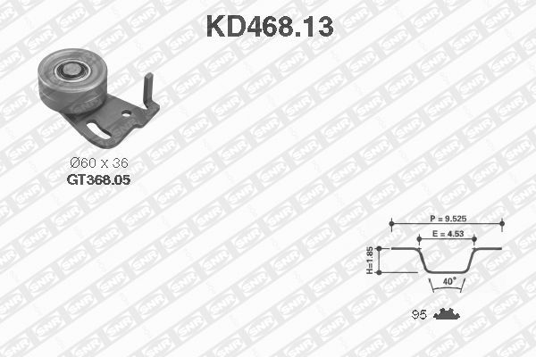 Ilustracja KD468.13 SNR zestaw paska rozrządu