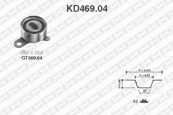 Ilustracja KD469.04 SNR zestaw paska rozrządu