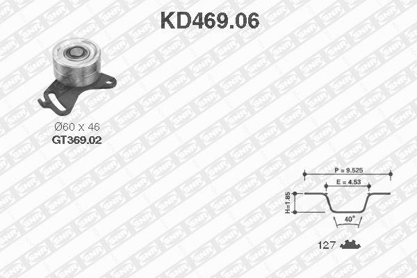 Ilustracja KD469.06 SNR zestaw paska rozrządu