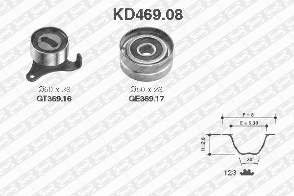 Ilustracja KD469.08 SNR zestaw paska rozrządu